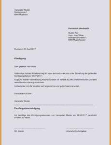 Beste Kündigung Aushilfe Vorlage PDF