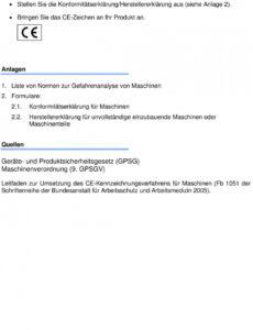 Bild Konformitätserklärung Vorlage Elektro  Kostenlos