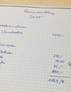 Bild Vorlage Einnahmenüberschussrechnung Kleinunternehmer Word Bearbeitbar