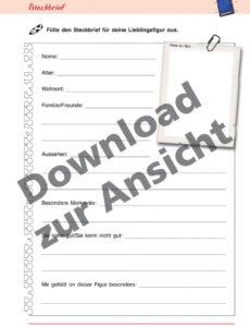 Buch Steckbrief Vorlage Word Frei