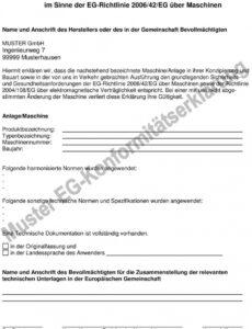 Konformitätserklärung Vorlage Elektro PDF Kostenlos