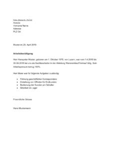 Kündigung Aushilfe Vorlage PDF