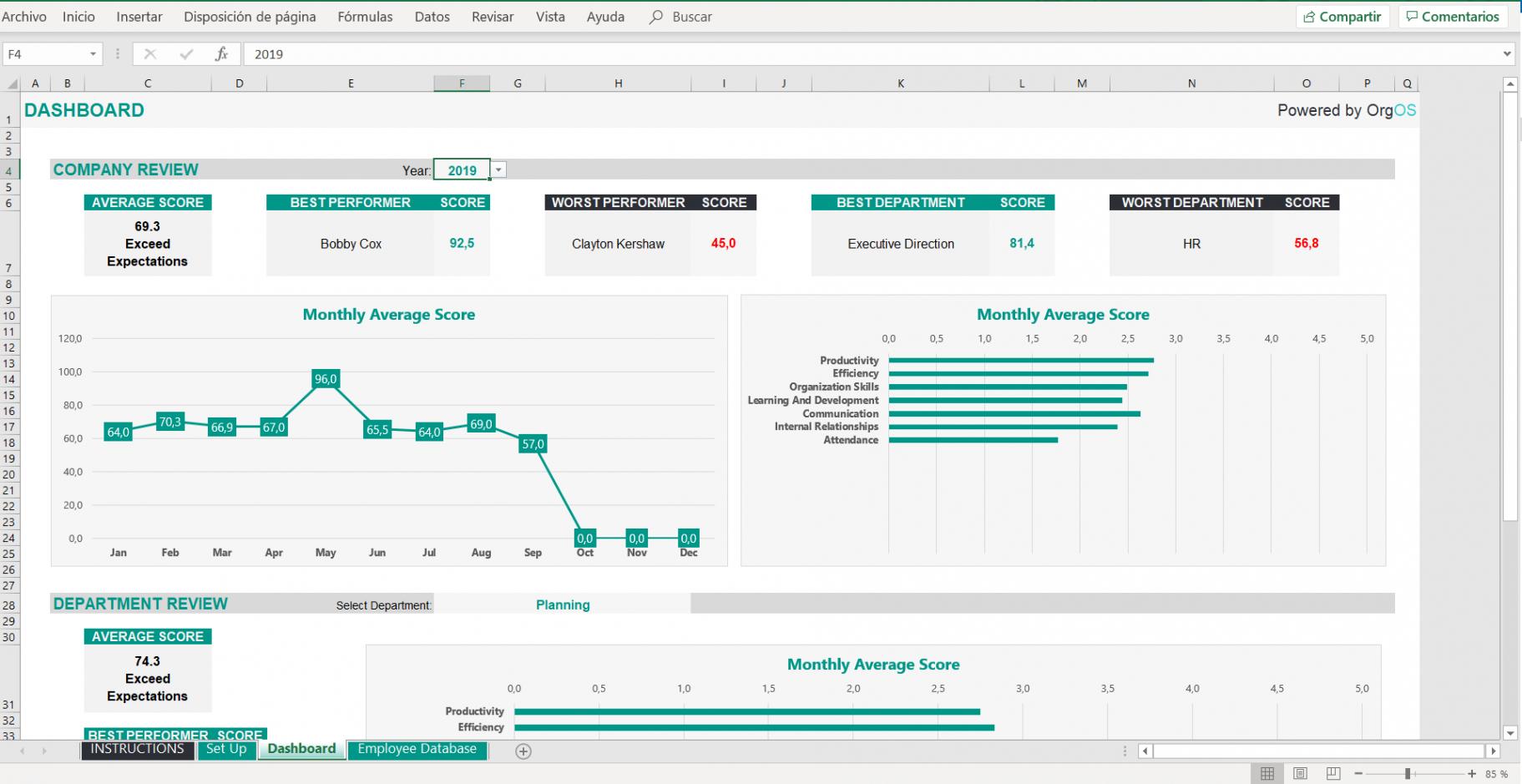 Leistungsbeurteilung Mitarbeiter Vorlage Excel