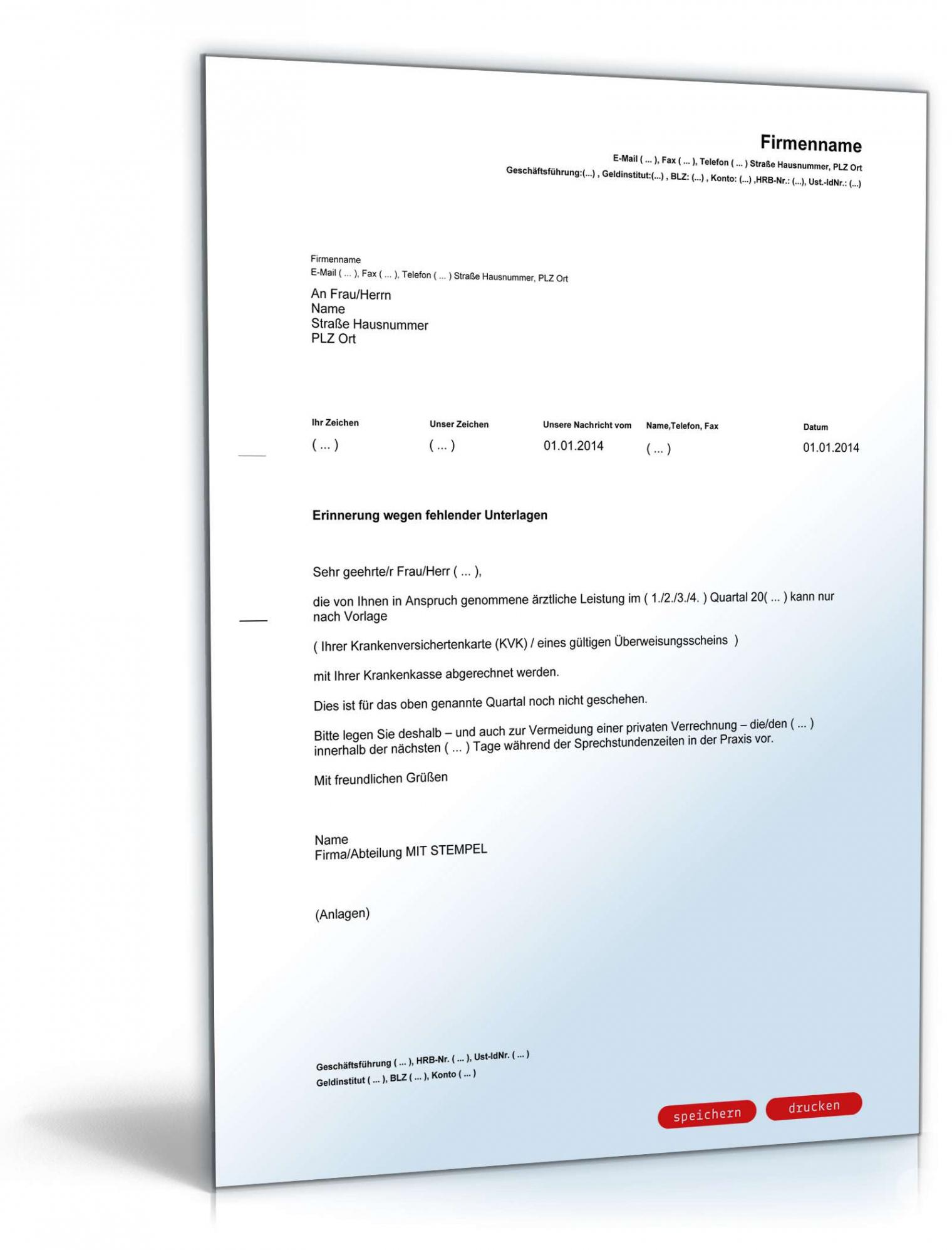 Sampler Bestätigung Arztbesuch Vorlage Excel Bearbeitbar