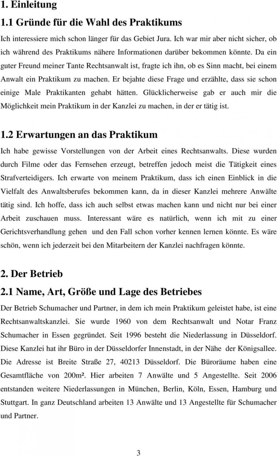 Sampler Erwartungen An Mein Praktikum Vorlage PDF Bearbeitbar