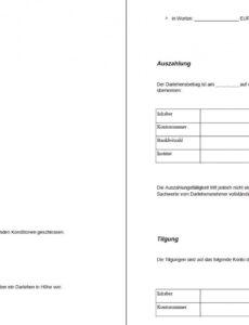 Sampler Freund Geld Leihen Vertrag Vorlage PDF Kostenlos