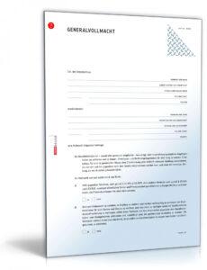 Sampler General Und Vorsorgevollmacht Vorlage PDF Kostenlos