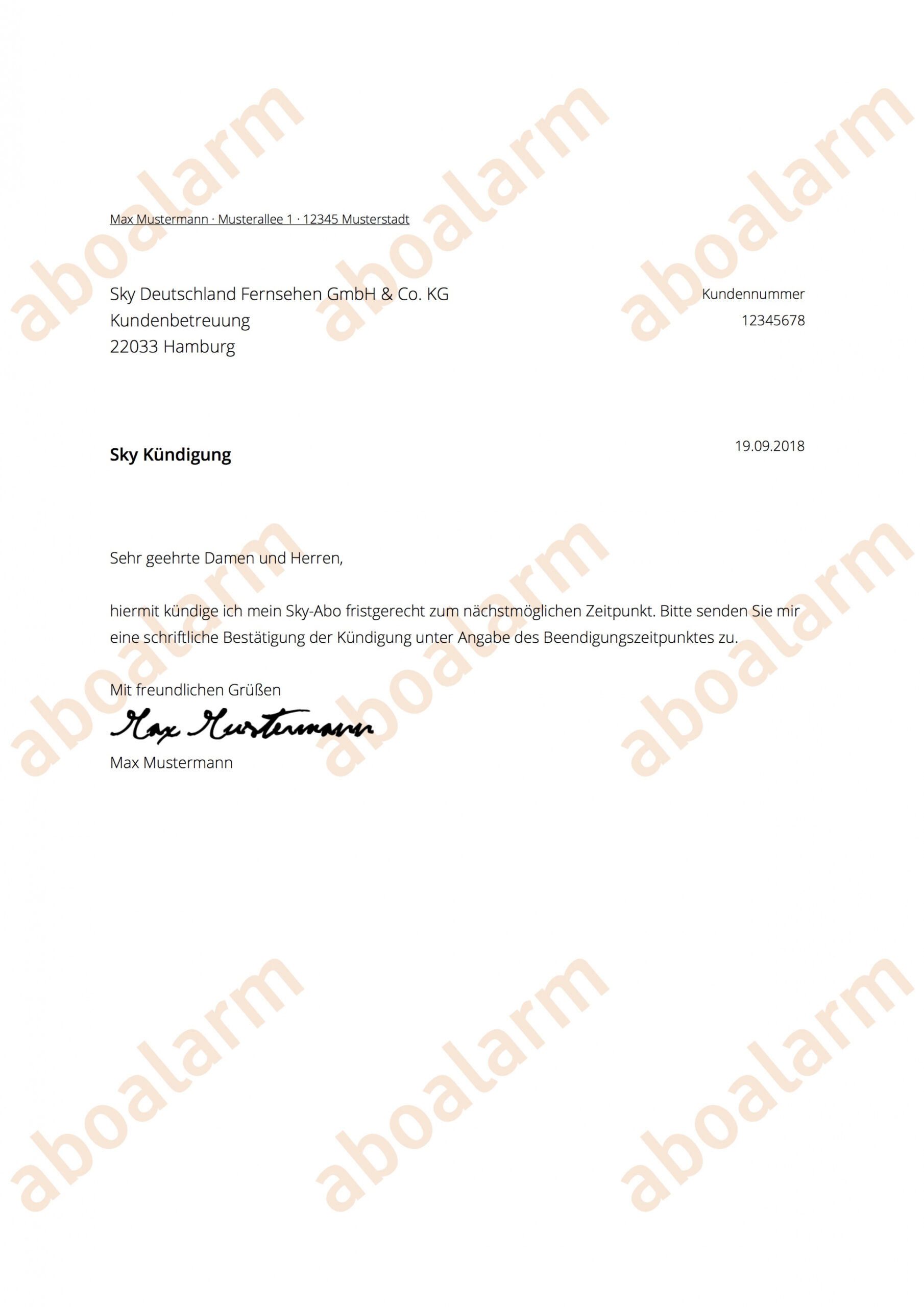 Sampler Kündigung Vertrag Fitnessstudio Vorlage Excel Bearbeitbar