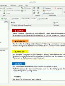 Technische Dokumentation Vorlage Excel Kostenlos