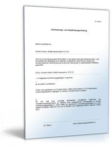 Unterlassungserklärung Vorlage Doc