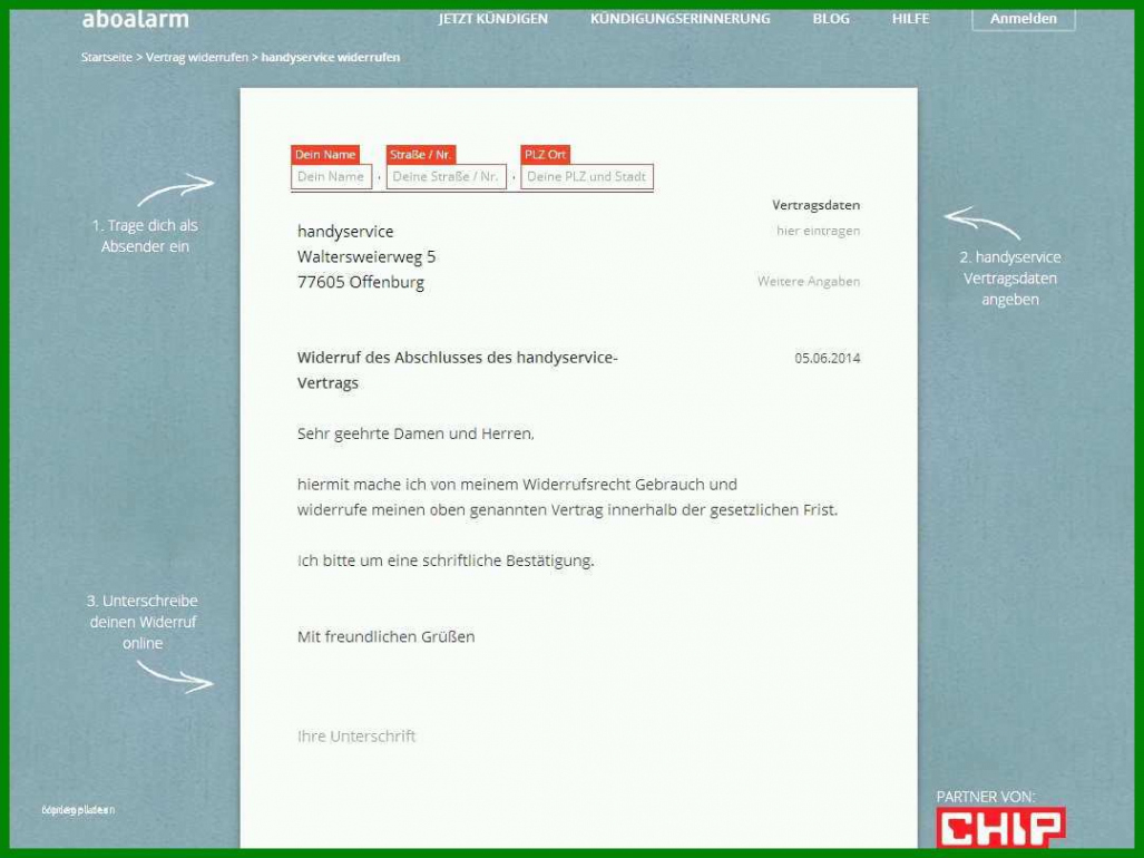 Beispiel Sonderkündigung Kfz Versicherung Vorlage PDF Frei