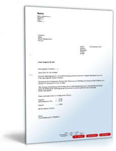 Beispiel Vorlage Angebot Dienstleistung PDF Bearbeitbar