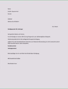 Beispiel Vorlage Kündigung Strom Umzug PDF Bearbeitbar