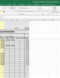 Beste Vorlage Stundenabrechnung PDF Bearbeitbar