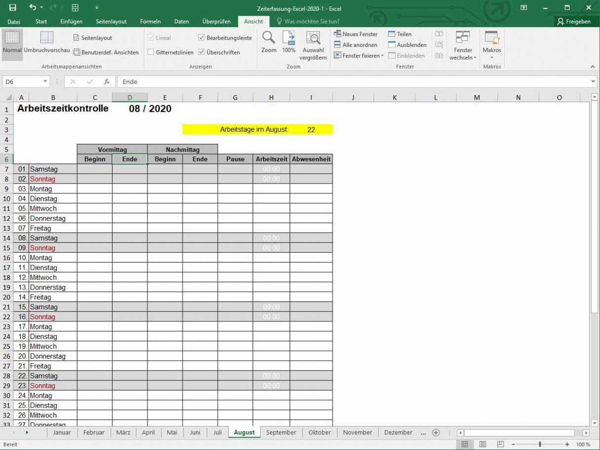 Beste Vorlage Stundenabrechnung PDF Kostenlos