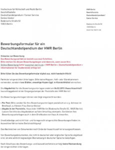Bild Motivationsschreiben Deutschlandstipendium Vorlage Excel Frei