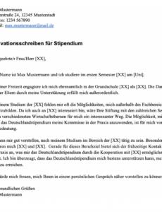 Bild Motivationsschreiben Deutschlandstipendium Vorlage Word Bearbeitbar