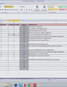 Bild Risikobeurteilung Maschinenrichtlinie Vorlage Excel Frei