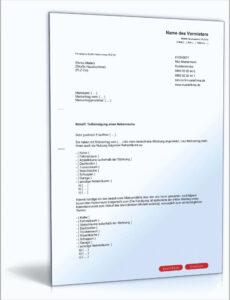 Kündigungsschreiben Bankkonto Vorlage Excel Kostenlos