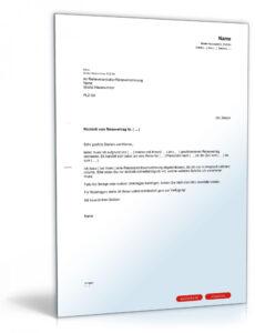 Reiserücktrittsversicherung Kündigen Vorlage PDF Frei