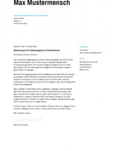 Sampler Bewerbungsschreiben Vorlage Kfz Mechaniker Word Frei