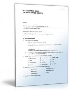 Sampler Zimmer Reservieren Vorlage PDF Druckfähig