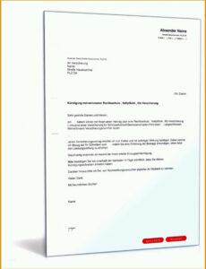 Sonderkündigung Kfz Versicherung Vorlage PDF
