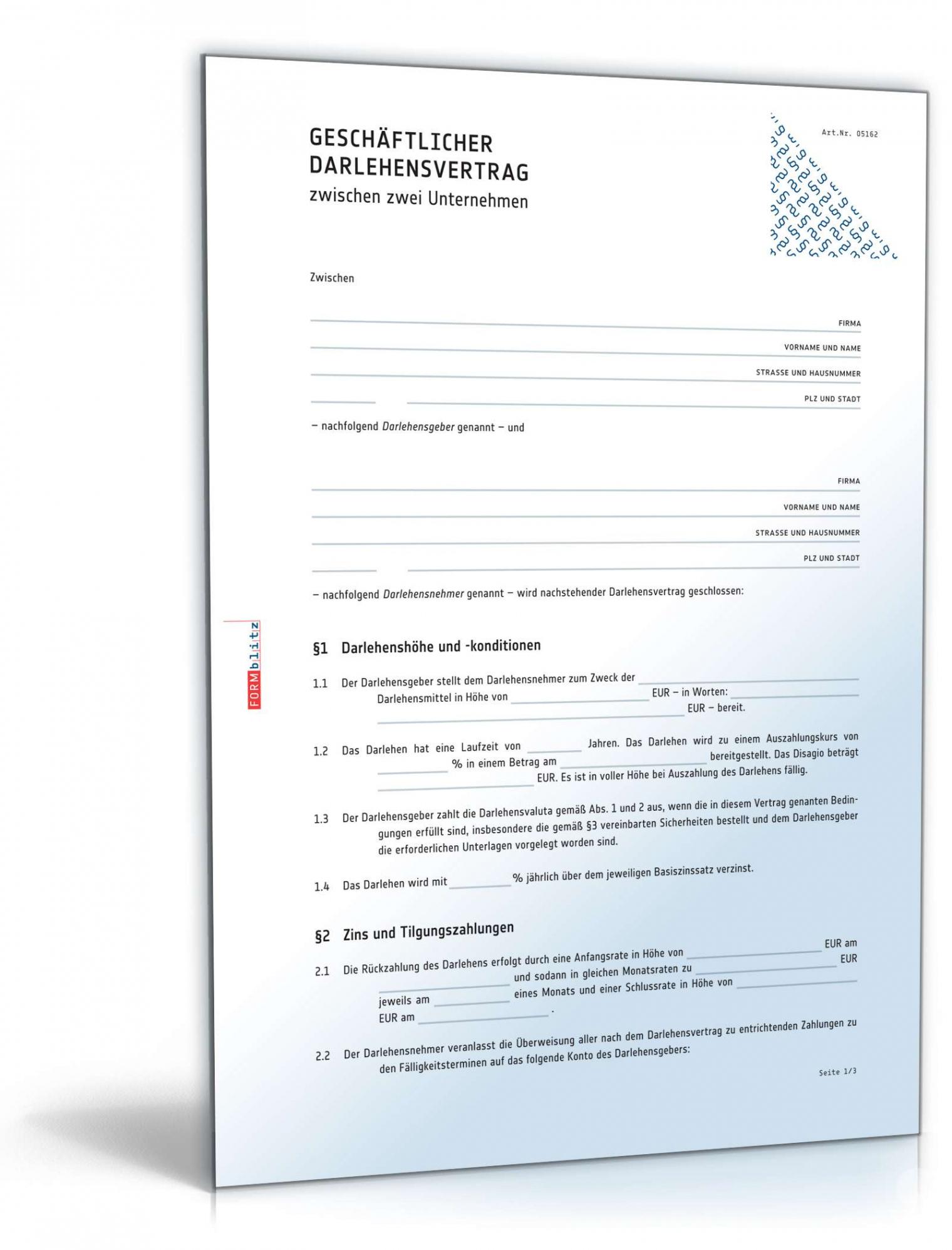 Vertrag Zwischen Privatpersonen Vorlage Excel Druckfähig