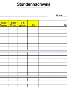 Vorlage Stundenabrechnung Excel