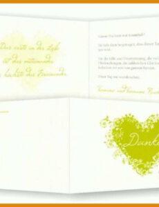 Beispiel Danksagung Hochzeit Vorlage PDF Bearbeitbar