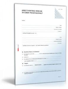 Beispiel Lohnkonto Minijob Vorlage PDF