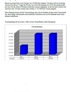 Beste Umsatzplanung Vorlage PDF Bearbeitbar