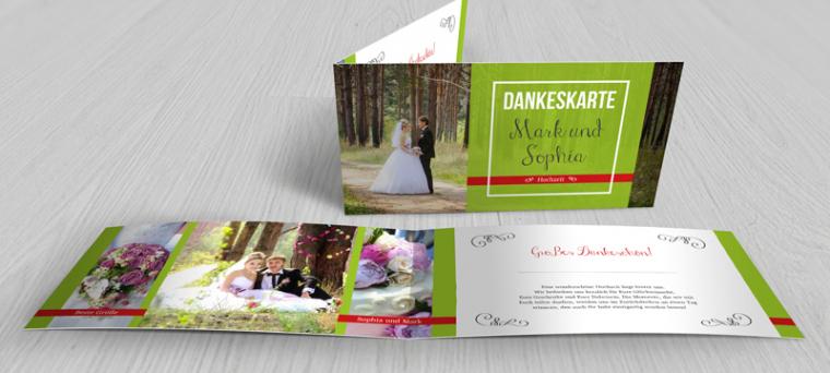 Beste Vorlage Dankeskarte Hochzeit  Druckfähig