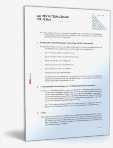 Bild Datenschutzerklärung It Dienstleister Vorlage  Kostenlos
