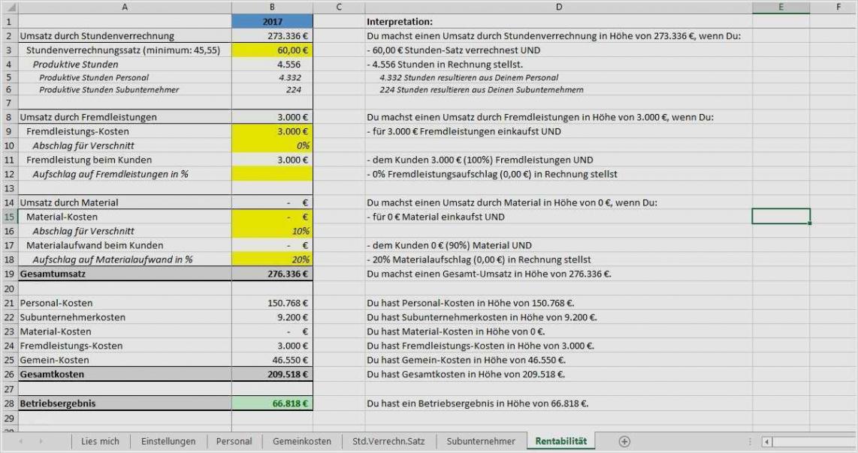 Bild Kalkulation Handwerk Excel Vorlage Word