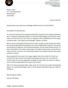 Bild Stellenangebot Schreiben Vorlage PDF Kostenlos