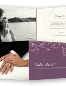 Bild Vorlage Dankeskarte Hochzeit  Frei