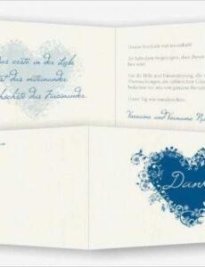 Danksagung Hochzeit Vorlage Doc