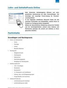 Lohnabrechnung Stundenlohn Vorlage PDF Kostenlos
