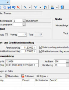 Sampler Lohnabrechnung Stundenlohn Vorlage
