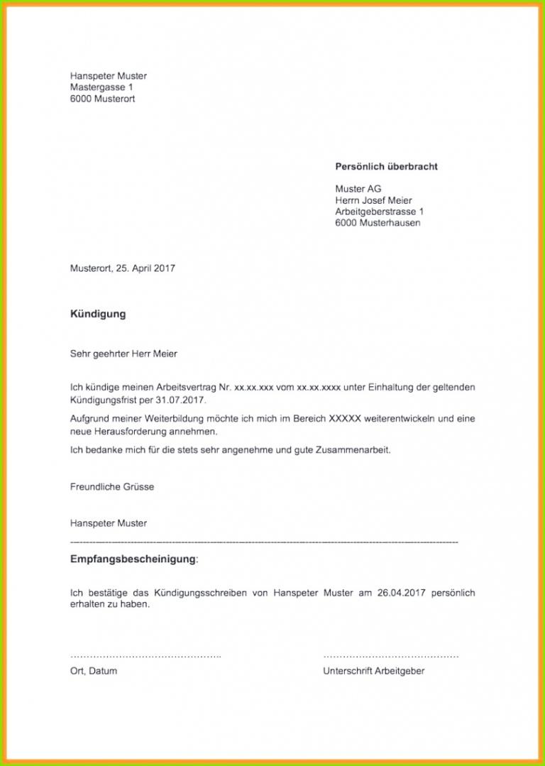 Vorlage Kündigung Berufsunfähigkeitsversicherung  Kostenlos