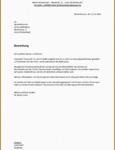 Vorlage Werbebrief Muster PDF Kostenlos