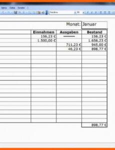 Beste Datev Kassenbuch Vorlage Excel Druckfähig