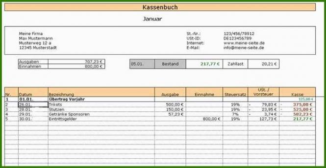 Datev Kassenbuch Vorlage Doc Bearbeitbar