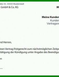 Beispiel Kündigung Handyvertrag Mit Rufnummernmitnahme Vorlage PDF Frei
