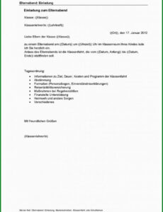 Beispiel Schriftliche Erlaubnis Der Eltern Vorlage PDF Kostenlos