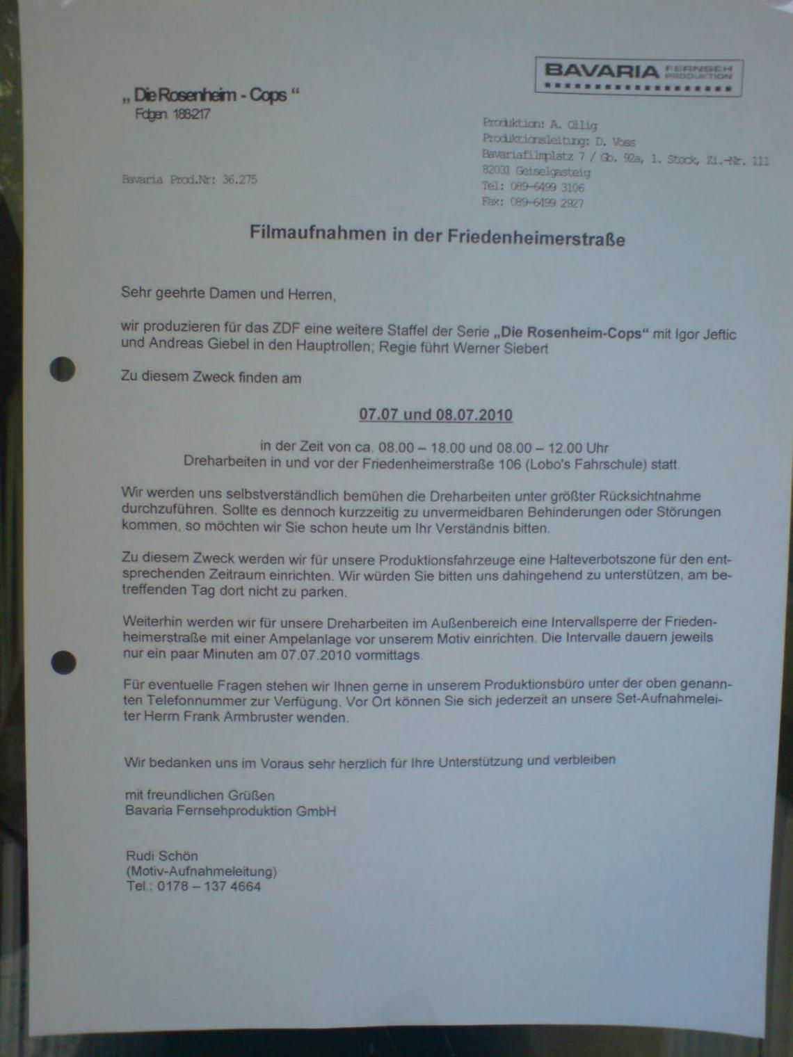 Bild Brief An Nachbarn Wegen Renovierung Vorlage  Bearbeitbar