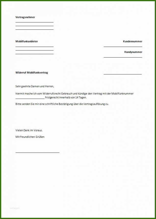 Beispiel Versicherung Kündigen Vorlage Zum Ausdrucken PDF Frei