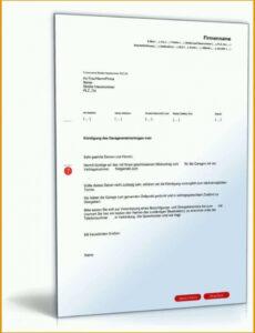 Beste Kündigung Mietvertrag Vermieter Vorlage Kostenlos PDF Frei