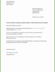 Kündigung Vor Arbeitsantritt Muster Vorlage PDF Kostenlos